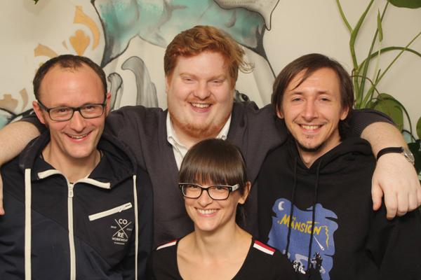 Bilden Österreichs Nationalteam (von links im Hintergrund): Michael Domanig, Johannes Eibl, Stefan Pletzer und (im Vordergrund) Astrid Rief