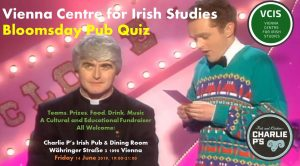 VIENNA CENTRE FOR IRISH STUDIES BLOOMSDAY PUB QUIZ! @ Charlie P's Irish Pub